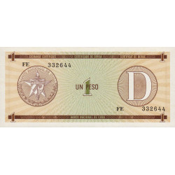 Cuba - Pick FX 32 - 1 peso - 1990 - Série D - Etat : NEUF