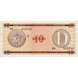 Cuba - Pick FX 35 - 10 pesos - 1990 - Série D - Etat : SUP