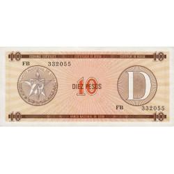 Cuba - Pick FX 35 - 10 pesos - 1990 - Série D - Etat : NEUF