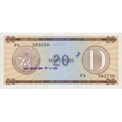 Cuba - Pick FX 36 - 20 pesos - 1990 - Série D - Etat : pr.NEUF