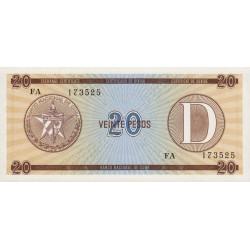 Cuba - Pick FX 36 - 20 pesos - 1990 - Série D - Etat : NEUF