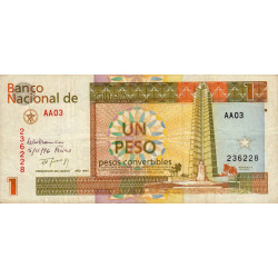 Cuba - Pick FX 37 - 1 peso - 1994 - Etat : TB