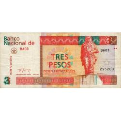 Cuba - Pick FX 38 - 3 pesos - 1994 - Etat : TB+
