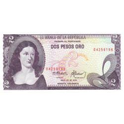 Colombie - Pick 413b1 - 2 pesos oro - 20/07/1976 - Etat : NEUF