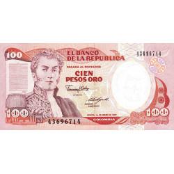 Colombie - Pick 426c2 - 100 pesos oro - 01/01/1987 - Etat : NEUF