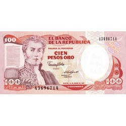 Colombie - Pick 426c_2 - 100 pesos oro - 1987 - Etat : NEUF