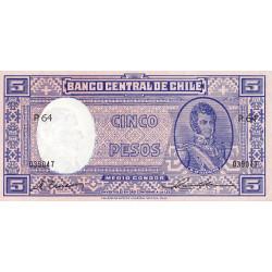 Chili - Pick 110_2 - 5 pesos - 1947 - Etat : NEUF