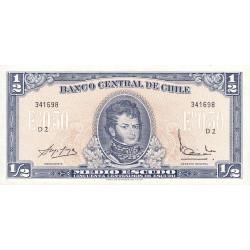 Chili - Pick 134Aa_1 - 1/2 escudo - 1967 - Etat : NEUF