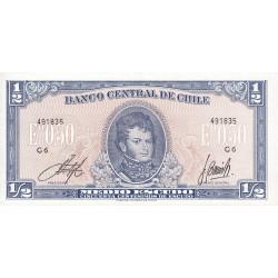 Chili - Pick 134Aa3.1 - 1/2 escudo - 1970 - Etat : NEUF