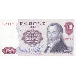 Chili - Pick 152b_9 - 100 pesos - 1984 - Etat : NEUF