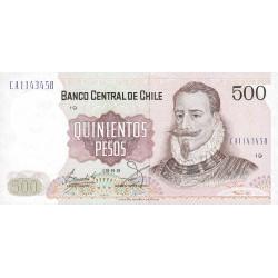 Chili - Pick 153b9 - 500 pesos - 1989 - Etat : NEUF