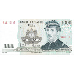 Chili - Pick 154e1 - 1'000 pesos - 1991 - Etat : NEUF