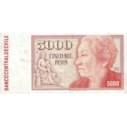 Chili - Pick 155b_5r (remplacement) - 5'000 pesos - 1989 - Etat : TTB