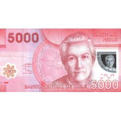 Chili - Pick 163a - 5'000 pesos - Polymère - 2009 - Etat : TTB