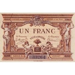 Angers (Maine-et-Loire) - Pirot 8-7- 1 franc - Série A2 - 07/1915 - Etat : SPL