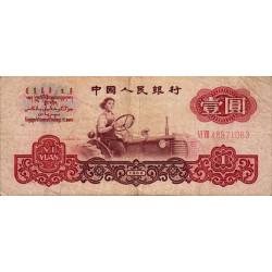 Chine - Peoples Bank of China - Pick 874c - 1 yüan - 1960 - Etat : TB-