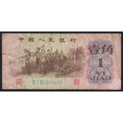 Chine - Peoples Bank of China - Pick 877c - 1 jiao - 1962 - Etat : B