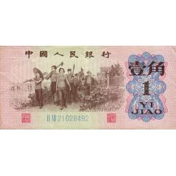 Chine - Peoples Bank of China - Pick 877d - 1 jiao - 1962 - Etat : TTB