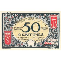 Nice - Pirot 91-04a - 50 centimes - Série 12 - 25/04/1917 - Etat : NEUF