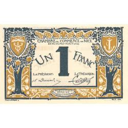 Nice - Pirot 91-05a - 1 franc - Série 5 - 25/04/1917 - Etat : pr.NEUF