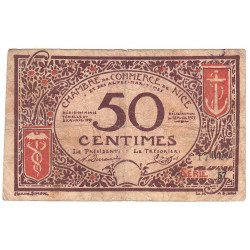 Nice - Pirot 91-06 - 50 centimes - Série 57 - 25/04/1917 - Emission 1920 - Etat : B+