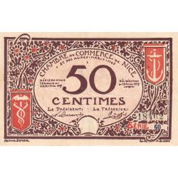 Nice - Pirot 91-06 - 50 centimes - Série 60 - 25/04/1917 - Emission 1920 - Etat : TTB+
