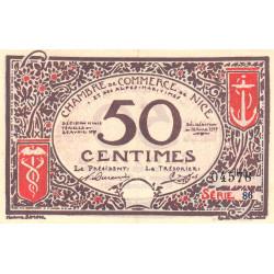 Nice - Pirot 91-06 variété 1 - 50 centimes - Série 86 - 25/04/1917 - Emission 1920 - Etat : SUP+