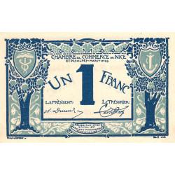 Nice - Pirot 91-07 - 1 franc - Série 42 - 25/04/1917 - Emission 1920 - Etat : SPL