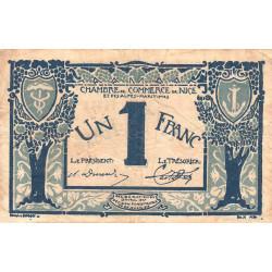 Nice - Pirot 91-07 - 1 franc - Série 49 - 25/04/1917 - Emission 1920 - Etat : TB-