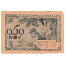 Nice - Pirot 91-09 - 50 centimes - Série 135 - 30/04/1920 - Etat : B+