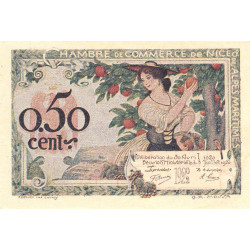 Nice - Pirot 91-09 - 50 centimes - Série 143 - 30/04/1920 - Etat : SUP+