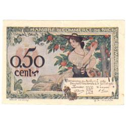 Nice - Pirot 91-09 - 50 centimes - Série 158 - 30/04/1920 - Etat : TTB