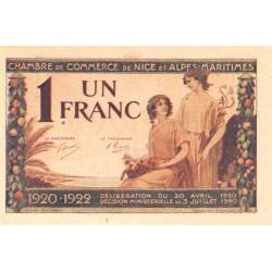 Nice - Pirot 91-11 - 1 franc - Série 91 - 30/04/1920 - Etat : pr.NEUF
