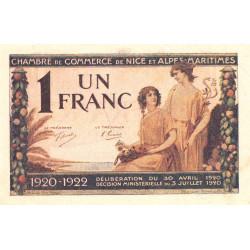 Nice - Pirot 91-11 - 1 franc - Série 95 - 30/04/1920 - Etat : SPL