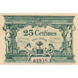 Angers (Maine-et-Loire) - Pirot 8-8b - 25 centimes - 1917 - Etat : SPL