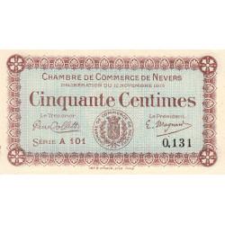 Nevers - Pirot 90-1 - 50 centimes - Série A 101 - 12/11/1915 - Etat : NEUF