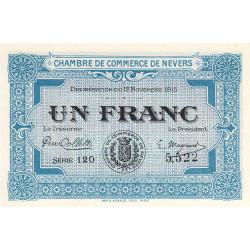 Nevers - Pirot 90-7 - 1 franc - Série 120 - 12/11/1915 - Etat : NEUF