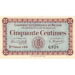 Nevers - Pirot 90-12 - 50 centimes - 2e série 158  - 22/02/1917 - Etat : NEUF