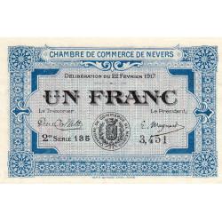 Nevers - Pirot 90-14 - 1 franc - 2e série 135 - 22/02/1917 - Etat : NEUF