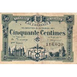 Nevers - Pirot 90-16 - 50 centimes - 3e série - 22/02/1920 - Etat : TB-