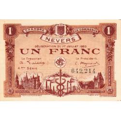 Nevers - Pirot 90-19 - 1 franc - 4e série - 01/07/1920 - Etat : NEUF