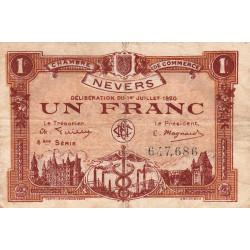 Nevers - Pirot 90-19 - 1 franc - 4e série - 01/07/1920 - Etat : TB