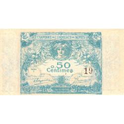 Nîmes - Pirot 92-1 - 50 centimes - Série 1 - 04/06/1915  - Emission 1915-1920 - Petit numéro - Etat : NEUF