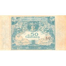Nîmes - Pirot 92-1 - 50 centimes - Série 1 - 04/06/1915  - Emission 1915-1920 - Petit numéro - Etat : pr.NEUF