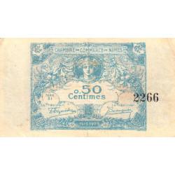 Nîmes - Pirot 92-1 - 50 centimes - Série 21 - 04/06/1915  - Emission 1915-1920 - Etat : TTB