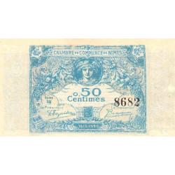 Nîmes - Pirot 92-1 variété - 50 centimes - Série 38 - 04/06/1915  - Emission 1915-1920 - Etat : SPL