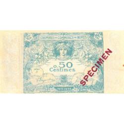 Nîmes - Pirot 92-2 - 50 centimes - Série 3 - 04/06/1915  - Emission 1915-1920 - Spécimen - Etat : SPL