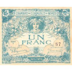 Nîmes - Pirot 92-6 - 1 franc - Série 1 - 04/06/1915  - Emission 1915-1920 - Petit numéro - Etat : SUP+ à SPL