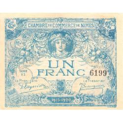 Nîmes - Pirot 92-6 - 1 franc - Etat : SUP+