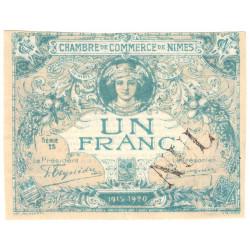 Nîmes - Pirot 92-8 - 1 franc - Série 13 - 04/06/1915  - Emission 1915-1920 - Annulé - Etat : SUP+